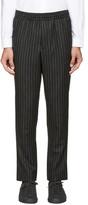 Ami Alexandre Mattiussi Grey Pinstripe City Trousers