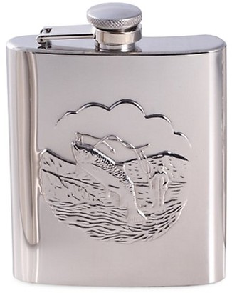 Bey-Berk Embossed Stainless Steel Flask