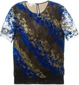 Antonio Berardi flocked lace blouse