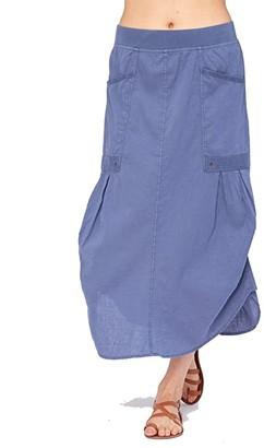 XCVI Raleigh Skirt in Cotton Linen (Black) Women's Skirt