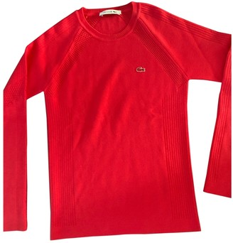 Lacoste Red Synthetic Knitwear