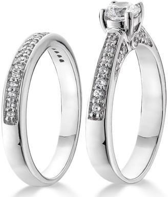9ct White Gold 75 Point Diamond (total) Bridal Set