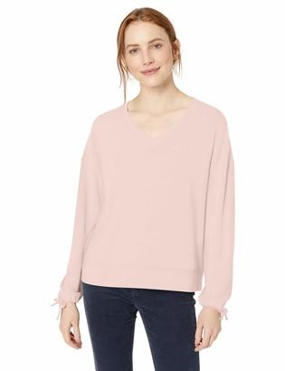 Daily Ritual Amazon Brand Women's Cozy Knit Tie Sleeve V-Neck Sweatshirt