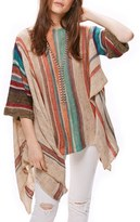 Free People Women's Fressia Stripe Poncho Sweater