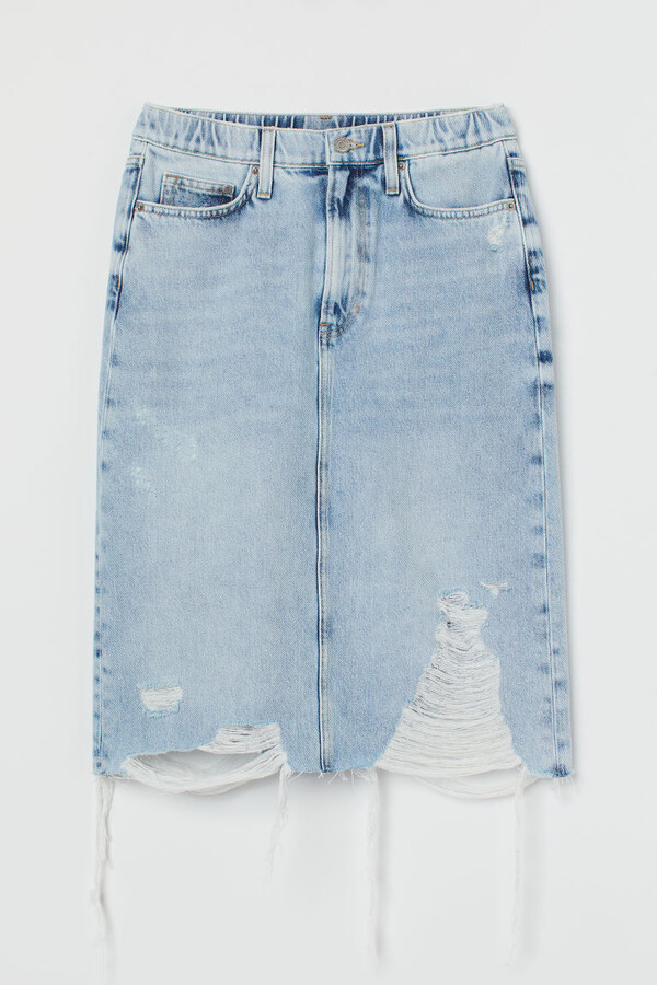 Thumbnail for your product : H&M Trashed Denim skirt