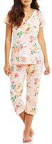 Miss Elaine Petite Floral Capri Pajamas