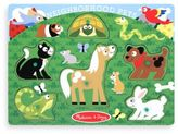 Melissa & Doug Pet Animals Peg Puzzle