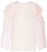 Andrew Gn Organza Sleeve Blouse