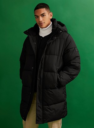 Topman CONSIDERED Black Longer Length Puffer Jacket