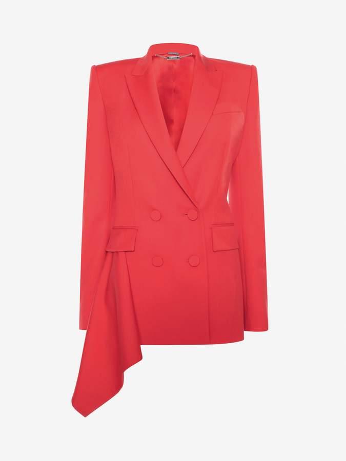 Alexander McQueen Double-Breasted Drape Jacket