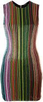 Balmain striped sequin dress - women - Polyamide/Spandex/Elastane/Viscose/glass - 40