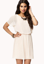 Forever 21 Accordion Pleated Georgette Dress