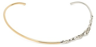 Marni Stone-ornament Two-tone Metal Choker - Silver Gold