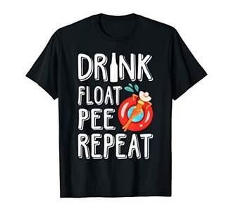 Drink Float Pee Repeat Funny Float Trip Woman Tubing T Shirt