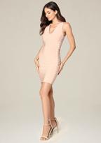 Bebe Side Lace Up Mini Dress