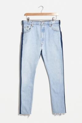 Urban Renewal Vintage Remade From Vintage Two-Tone Jeans - Blue S at Urban Outfitters