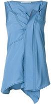 Marni sleeveless draped blouse