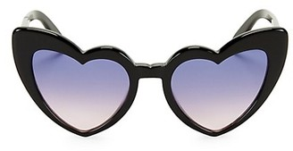 Saint Laurent Loulou 54MM Heart Sunglasses