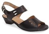 Fidji Women's 'V112' Perforated Leather Sandal