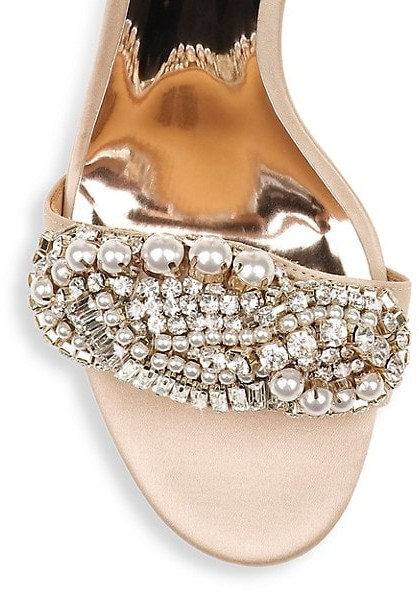 Thumbnail for your product : Badgley Mischka Odalis Embellished Heeled Sandals