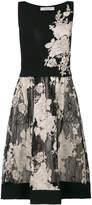 D-Exterior D.Exterior floral jacquard flared dress