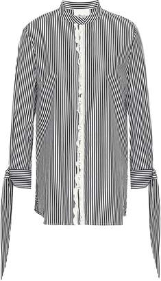 3.1 Phillip Lim Ruffle-trimmed Striped Cotton-blend Shirt