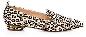 Nicholas Kirkwood Women's Beya Animal-Print Faux Fur Loafers