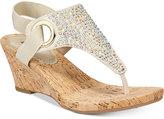 White Mountain Aldon Thong Embellished Wedge Sandals