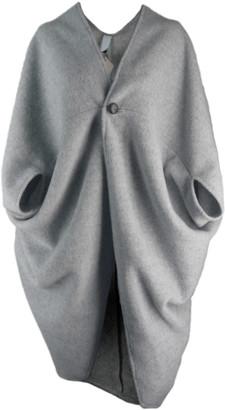 Format ACRE wool fleece Cardigan - darkblue - Light grey