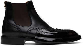 Burberry Black Brogue Chelsea Boot