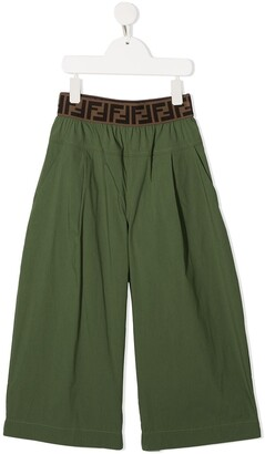 Fendi Kids Wide-Leg Trousers