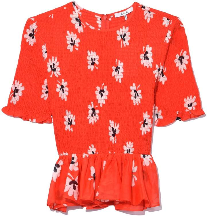 Ganni Linaria Blouse in Big Apple Red