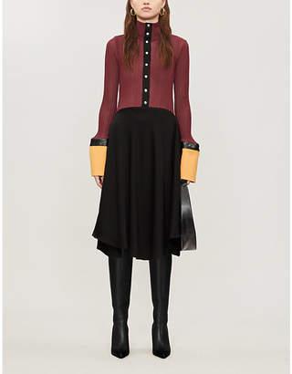 Ellery Concourse oversized-cuffs woven midi dress