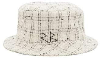 Ruslan Baginskiy Checked-tweed Bucket Hat - Womens - White