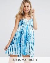 Asos Beach Tie Dye Mini Dress