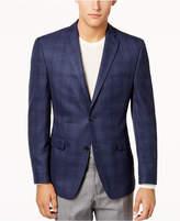 Alfani Men's Slim-Fit Blue Plaid Sport Coat, Created for Macy's