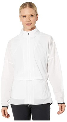 Nike Repel Ace Jacket 3-in-1 Full Zip (White/White/Black/White) Women's Clothing