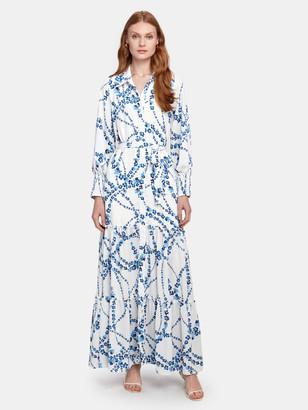 MISA Evangeline Bishop Sleeve Maxi Dress