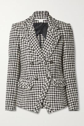 Veronica Beard Taja Double-breasted Houndstooth Cotton-blend Tweed Blazer - Gray