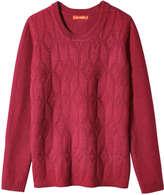 Joe Fresh Women's Jacquard Sweater, Black (Size XL)