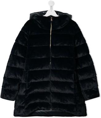 Herno TEEN zipped padded coat