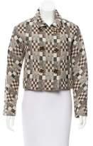 Oscar de la Renta Patterned Double-Breasted Jacket