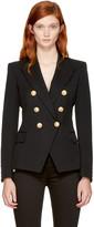 Balmain Black Wool Classic Six-button Blazer