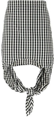 Burberry Tie Detail Mini Skirt