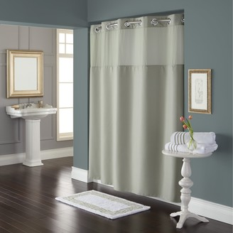 Hookless Waffle Shower Curtain & Fabric Liner