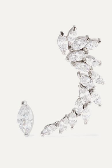 Kenneth Jay Lane Silver-tone Cubic Zirconia Earrings - one size