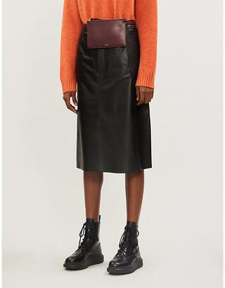 Joseph Bell leather skirt