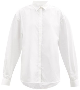 Totême Oversized Cotton-poplin Shirt - White