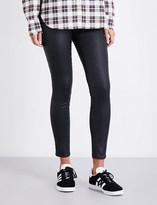 AG Jeans Ladies Black Innovative Modern The Farrah Super-Skinny Mid-Rise Leatherette Jeans