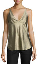 Derek Lam Sleeveless V-Neck Camisole, Gold